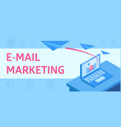 describing e-mail marketing as a vector image