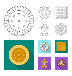 Design of biscuit and bake logo collection vector