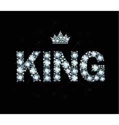 Diamond Word King vector image