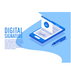 Digital signature creative people collection vector