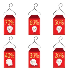 Discount Labels with Sheeps2 vector image
