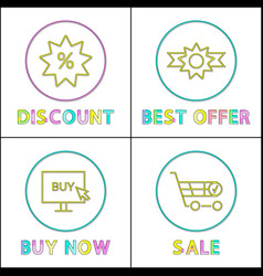 discount sales posters set vector image