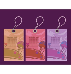 Easter shopping tags vector