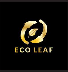 eco leaf business logo vector image