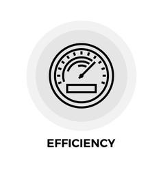 Efficiency Line Icon vector image