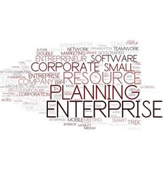 Enterprise word cloud concept vector