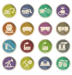 Factory and Industry icons vector image vector image