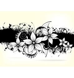 Floral ornament background with swirls vector
