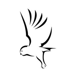 Flying Owl vector image