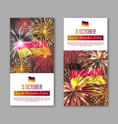 germany independence day vertical flyers vector image