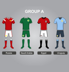 group a team jersey vector image