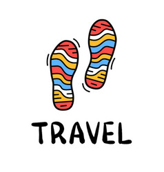 Hand draw doodle simple two step travel camp icon vector