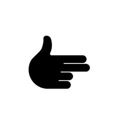 hand gesture gun flat icon vector image