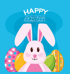 happy easter celebration vector image