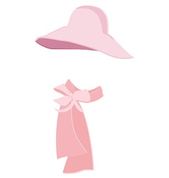 Hat and scarf vector