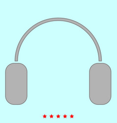 headphone it is icon vector image