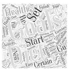 Health diet fitness Word Cloud Concept vector