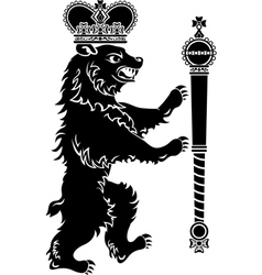 Heraldic bear full height vector image vector image