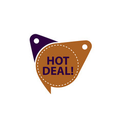 hot deal tag shop template isolated vector image