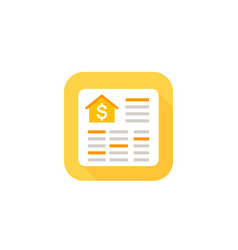 house payments icon with spreadsheet vector image