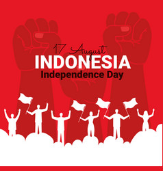 Indonesia independence poster vector