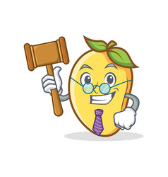 Judge mango character cartoon mascot vector