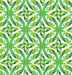 Leaves in circle seamless pattern vector