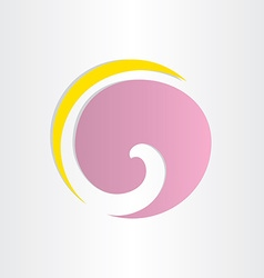 letter g violet circle wave vector image