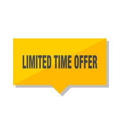 Limited time offer price tag vector