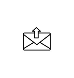 mail send icon vector image