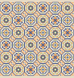 Mediterranean seamless pattern from moroccan tiles vector