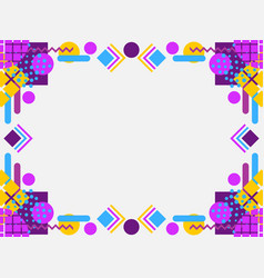 memphis style frame geometric objects 80s vector image