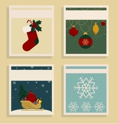 Merry Christmas and Happy New Year Set Of Card vector