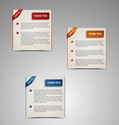 Modern steps colored labels template vector