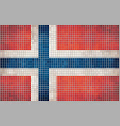 Mosaic flag of Norway vector image
