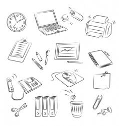Office set vector