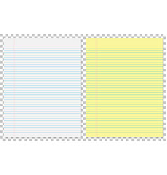 paper leaves yellow and white in line on isolated vector image