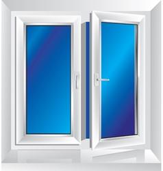 plastic window ajar vector image