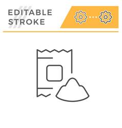 Powder editable stroke line icon vector
