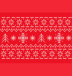 red seamless christmas pattern a knitted texture vector image