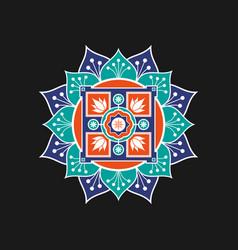 round pattern design vector image