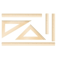 Rulers and triangles vector