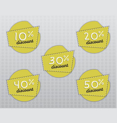 Sale stickers and labels with up to 10 - 50 vector
