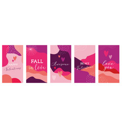 Set valentines day abstract backgrounds vector
