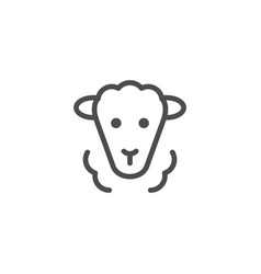 Sheep line icon vector