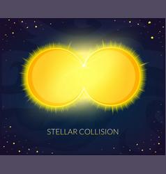 stellar collision vector image
