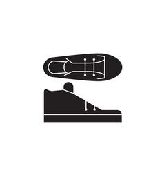 tenis shoes black concept icon tenis shoes vector image