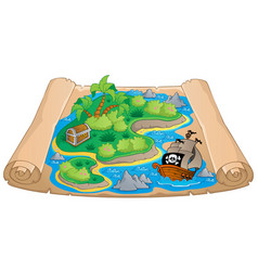 Treasure map theme image 4 vector