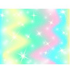 Unicorn rainbow background mermaid pattern in vector