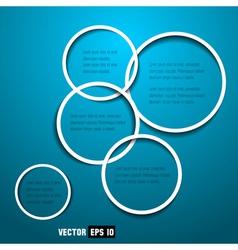 web design circles vector image